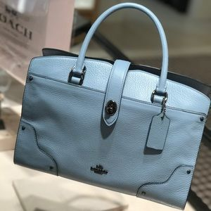 New Coach Mercer 30 cornflower handbag